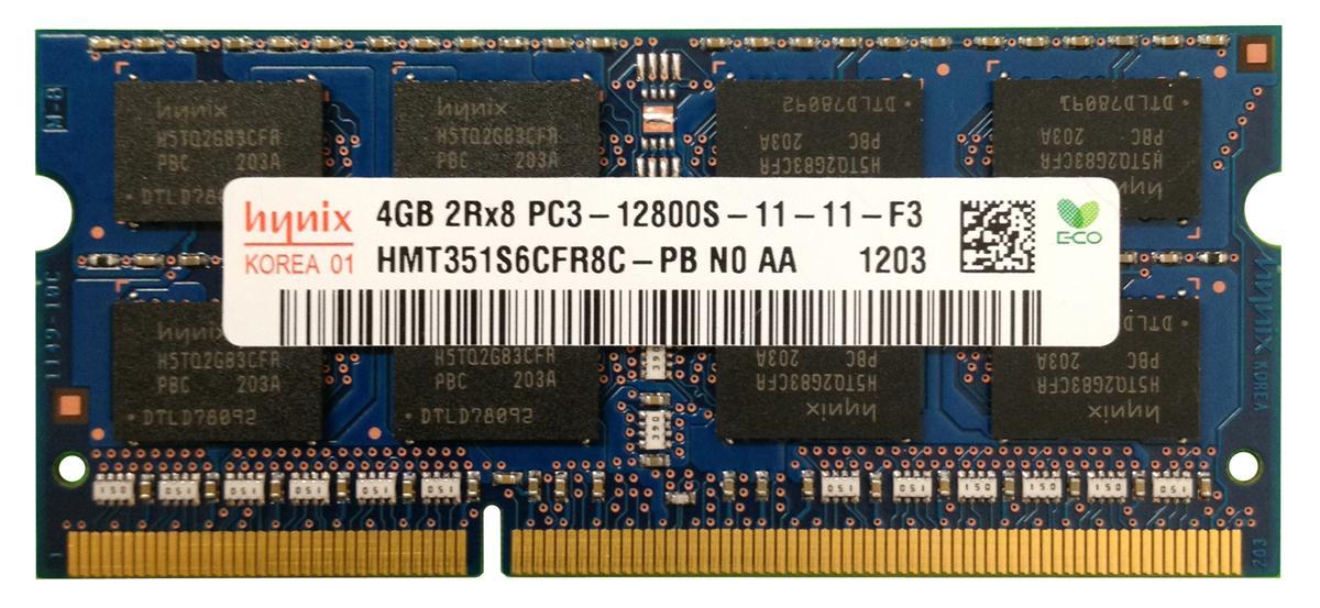 memoria ram ddr3-1600 4gb portatil 1600 pc3l 12800 nuevo hynix elpida mt so-dimm