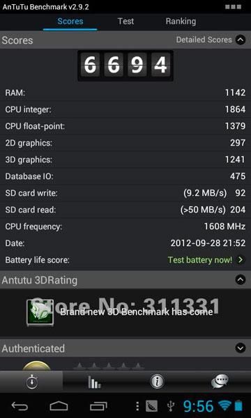 Оценка производительности планшетного компьютера Pipo S1