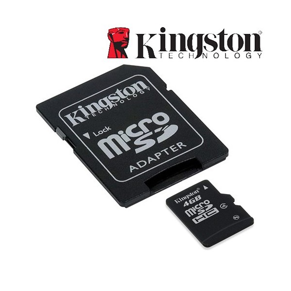 Фото: Карта Памяти 4GB Kingston microSDHC Class 4, with adapter SD