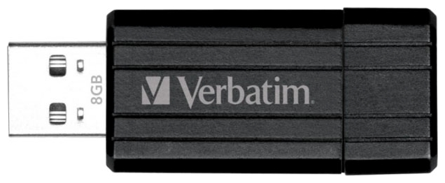 Фото: USB Flash Drive 8GB Verbatim 49062 STORE`N`GO PIN STRIPE Black