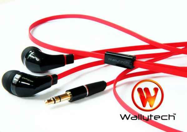 Фото: Наушники Wallytech WEA-111, Black/Red, 3.5 mm