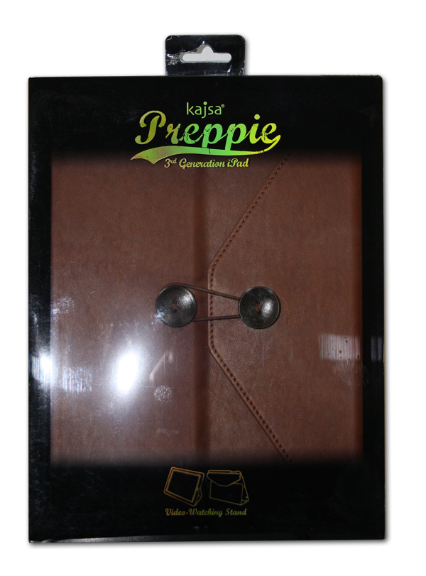 Фото: Чехол для iPad 3/4 Kajsa Preppie PU case Dark Brown