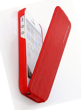 Фото: Чехол Borofone для iPhone 5, Lieutenant Flip Leather Case, Red (BI-L024R)