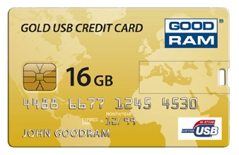 Фото: USB Flash Drive 16 Gb Goodram Gold Credit Card