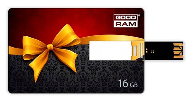 Фото: USB Flash Drive 16 Gb Gooddrive Gift GOLD CREDIT CARD