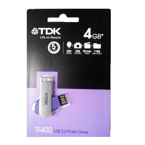 Фото: Flash-Накопитель 4GB TDK TF400 Purple USB2.0 гарантия 12 мес.