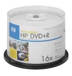 Фото: Диск DVD-R 50 HP, 4.7GB, 16x, Bulk Box