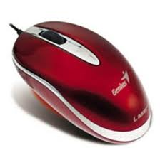 Фото: Мышь Genius Mini Traveler Laser 1600dpi USB&PS/2 Ruby