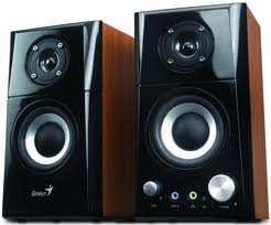 Фото: Колонки 2.0 Genius SP-HF500A Black-Walnut / 2х7Вт / 100-20000Hz / МДФ / mini-jack 3.5 / управление спереди