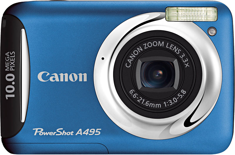 Фото: Цифровая камера Canon A495  (SD-card) blue-