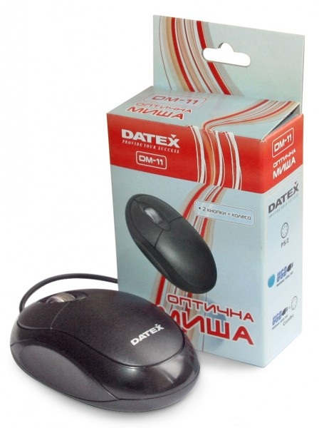 Фото: Мышь Datex DM-11 1000dpi USB Mini-Mouse Black гарантия 6 мес.