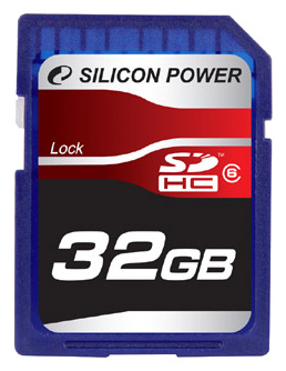 Фото: Карта памяти 32 Gb SDHC, Silicon Power (SP032GBSDH006V10)