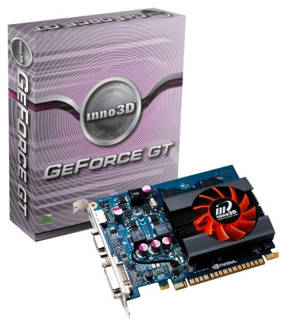 Фото: Видеокарта Inno3D / GeForce GT440 / 1Gb DDR3 / 128-bit / N440-2DDV-D3CX