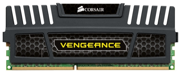 Фото: Модуль памяти DDR3 4Gb PC3-12800 (1600MHz) Corsair Vengeance (CMZ4GX3M1A1600C9) 9-9-9-24, радиатор