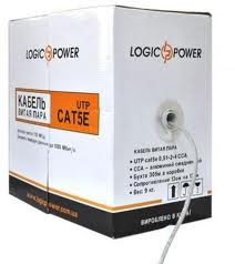 Фото: Кабель UTP LogicPower, 4x2, Cat. 5E, 0,5 mm, медь, бухта 305 м
