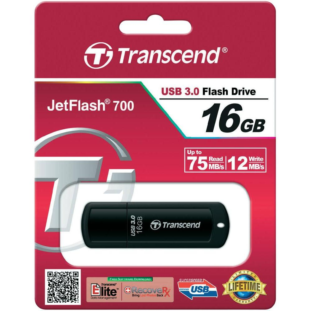 Фото: USB 3.0 Flash Drive 16Gb Transcend 700 Black / 70/12Mbps / TS16GJF700