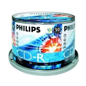Фото: Диск CD-R 50 Philips, 700Mb, 52x, Bulk Box