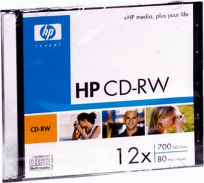 Фото: Диск CD-RW Slim HP, 700MB, 12x
