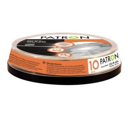 Фото: Диск CD-R 10 Patron, 700Mb/80min, 52x, Cake Box (INS-C006)
