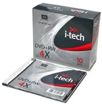 Фото: Диск DVD-RW Slim I-Tech, 4.7GB, 4x