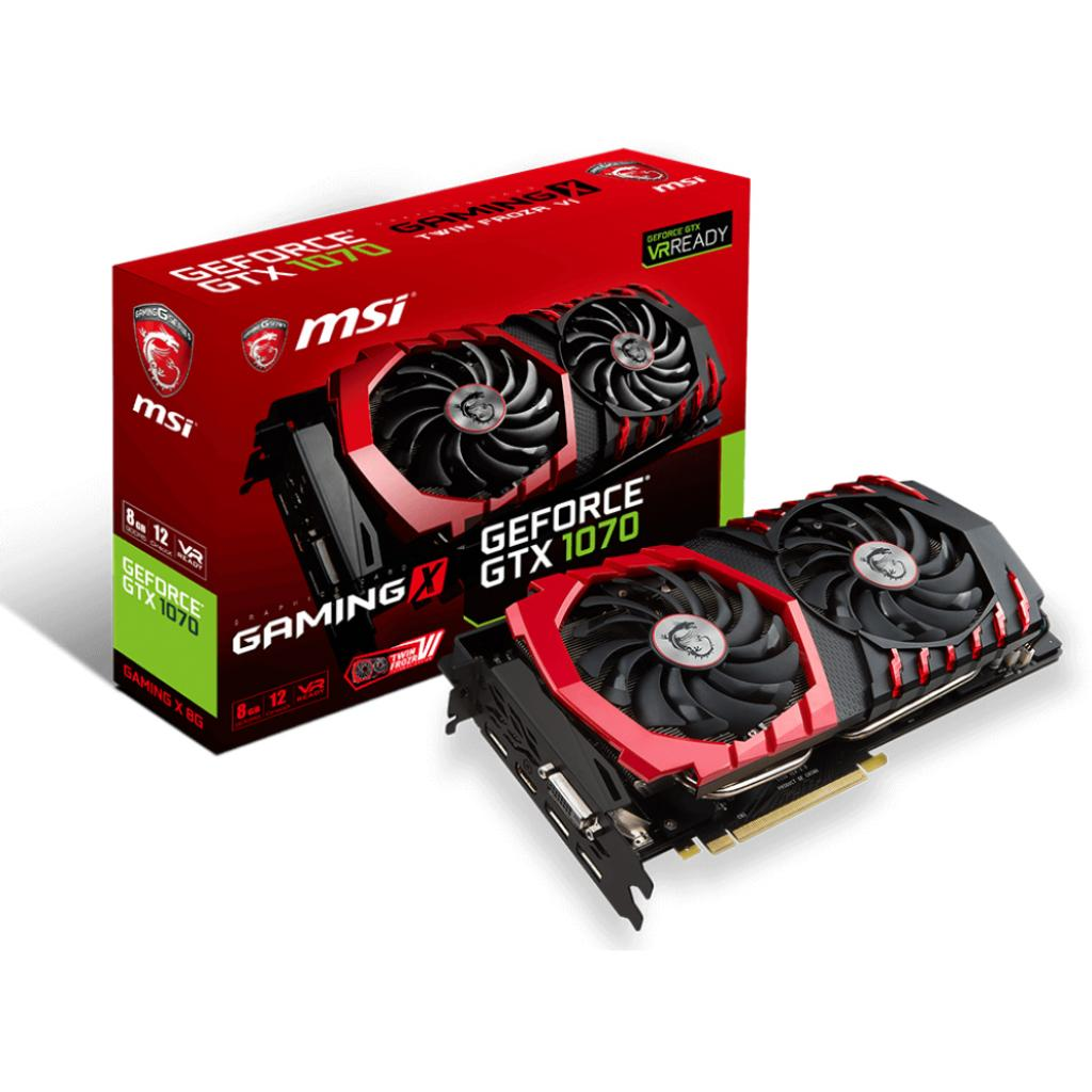Фото: Видеокарта MSI GeForce GTX1070 8192Mb GAMING X (GTX 1070 GAMING X 8G)
