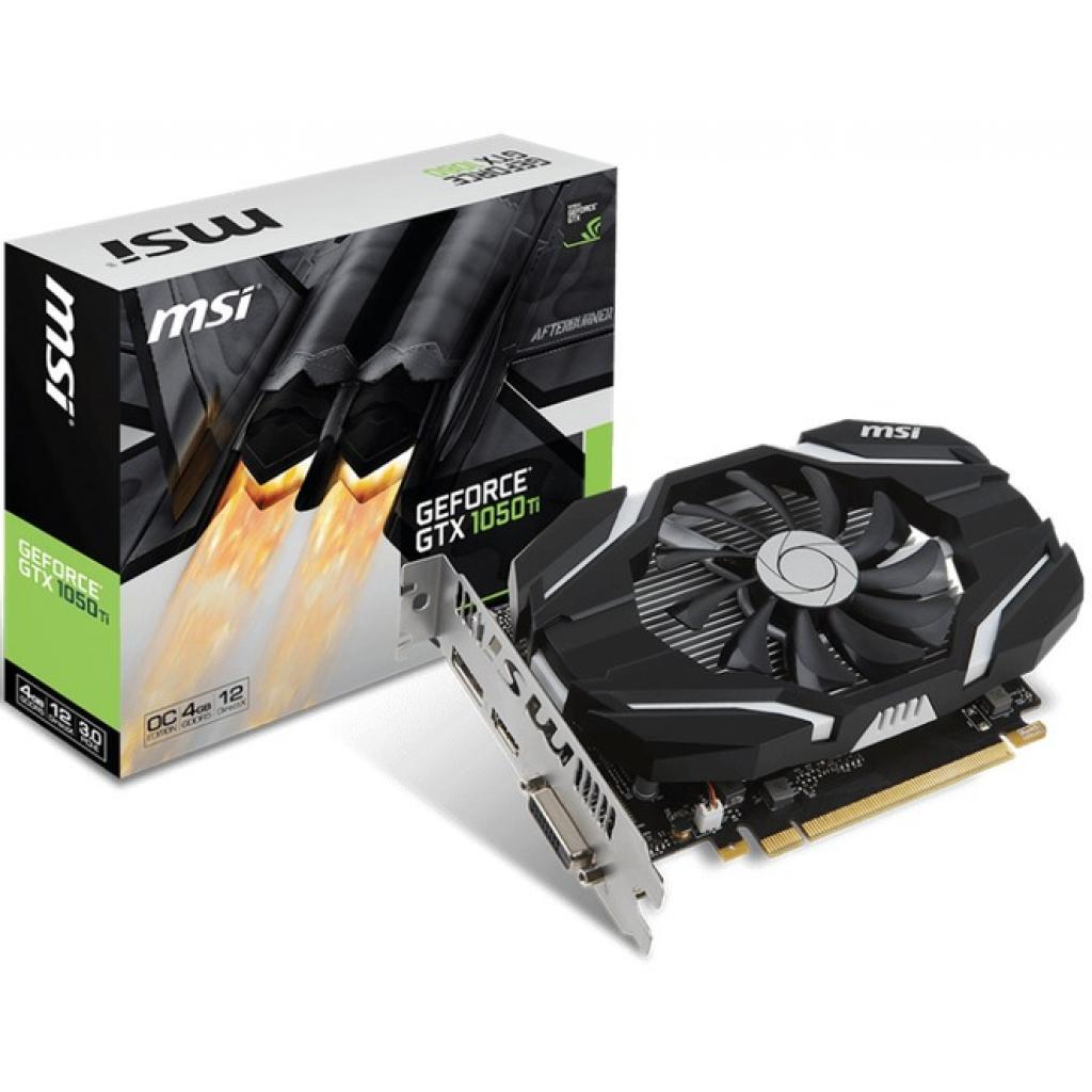 Видеокарта MSI GeForce GTX1050 Ti 4096Mb OC (GTX 1050 Ti 4G OC)