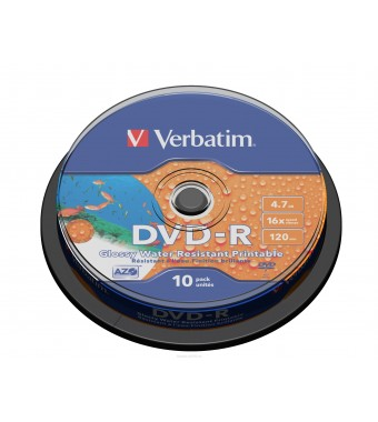 Фото: Диск DVD-R 10 Verbatim, 4.7GB, 16x, Cake Box (43763)