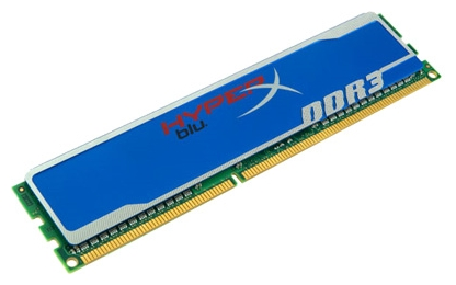 Фото: Модуль памяти DDR3 4Gb PC3-12800 (1600MHz) Kingston HyperX Blu (KHX1600C9D3B1/4G)