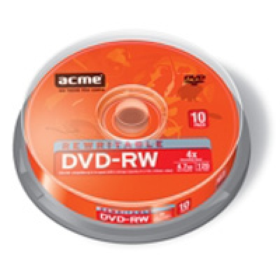 Фото: Диск DVD-RW 10 Acme, 4.7GB, 4x, Bulk Box
