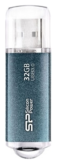 Фото: USB 3.0 Flash Drive 32 Gb SILICON POWER Marvel M01 Ice Blue / SP032GBUF3M01V1B