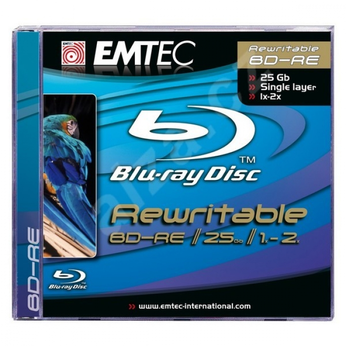 Фото: Диск BD-R 10 Blu-ray Emtec, 25GB, 6x, Printable, Cake Box