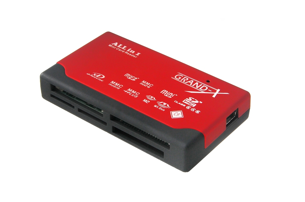 Фото: Card Reader внешний Grand-X multi all-in-one SDHC (CRX02Red)