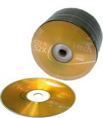 Фото: Диск CD-R 50 I-Tech, 700Mb/80min, 52x, Bulk Box