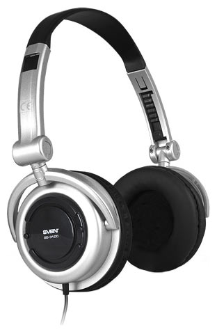 Фото: Наушники SVEN GD 3100 Multimedia Headset + 3,5mm/6,3mm adapter Silver/Black