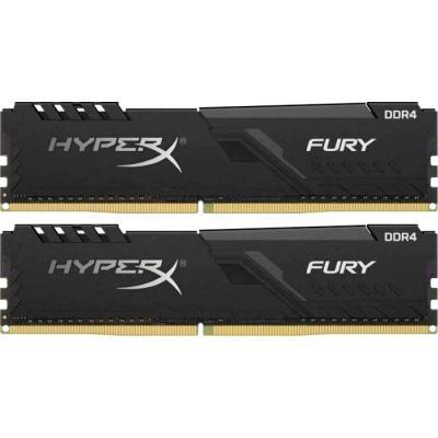 Модуль памяти DDR4 2 х 8GB 3200MHz Kingston HyperX Fury Black C18-21-21 (HX432C16FB3K2/16) купить в Запорожье и Украине