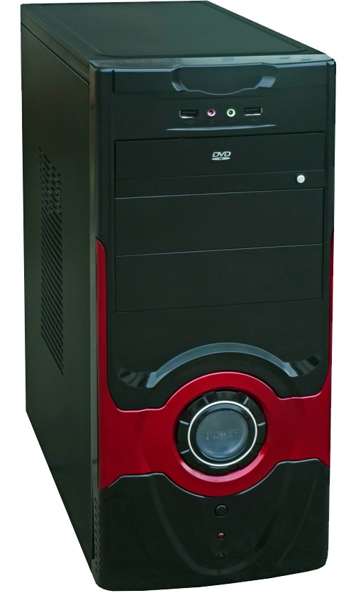 Фото: Корпус Evolution D418 Black-Red / 400W
