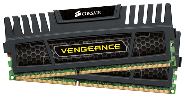 Фото: Модуль памяти DDR3 8Gb (2 x 4Gb) PC3-12800 Corsair Vengeance (CMZ8GX3M2A1600C9)