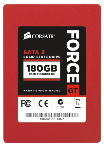 Фото: Винчестер SSD 180Gb Corsair GT Force 3 (CSSD-F180GBGT-BK)