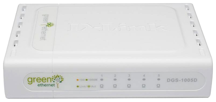 Фото: Коммутатор D-Link DGS-1005D/GE 5port Gigabit Green Power