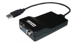 Фото: Контроллер STLab USB 3.0 A Male - VGA: D-sub 15 pin Female U-470
