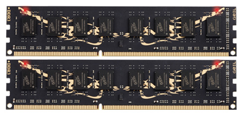 Фото: Модуль памяти DDR3 4Gb (2 x 2Gb) PC3-12800 GeIL Black Dragon (GB34GB1600C8DC)