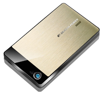 Фото: Внешний винчестер 750GB SILICON POWER USB 2.0 Armor A50 Gold SSP750GBPHDA50S2G