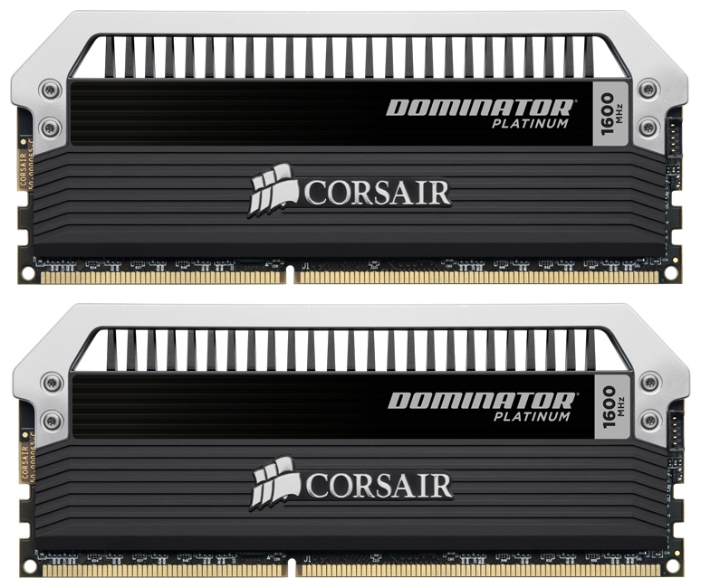Фото: Модуль памяти DDR3 8Gb (2 x 4Gb) PC3-12800 Corsair DOMINATOR Platinum (CMD8GX3M2A1600C9)