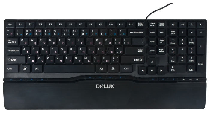 Фото: Клавиатура DELUX DLK-1882U slim Multimedia USB,
