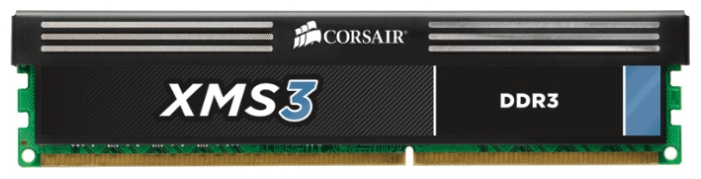 Фото: Модуль памяти DDR3 4Gb PC3-12800 (1600MHz) Corsair XMS3 (CMX4GX3M1A1600C11)