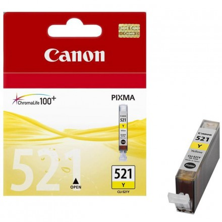 Фото: Картридж Canon CLI-521Y, Yellow, iP3600/4600,MP540/550/560/630/980, MX860, с чипом, Black Point