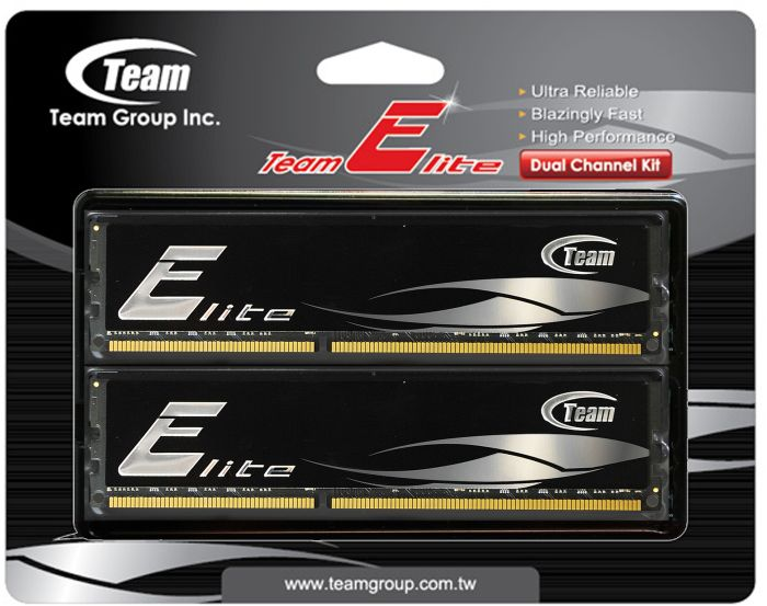 Фото: Модуль памяти DDR3 8Gb (2 x 4Gb) PC3-12800 (1600MHz) Team Elite (TED38G1600HC11DC01)