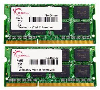 Фото: Модуль памяти SO-DIMM DDR3 8Gb (2 x 4Gb) PC3-10600 (1333MHz) G.Skill (F3-10666CL9D-8GBSQ)