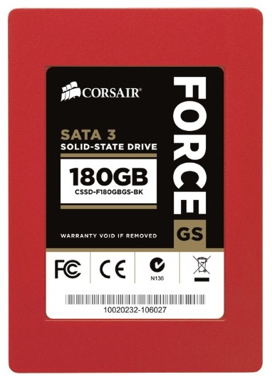 Фото: Жесткий диск SSD 180Gb Corsair Force Series GS (CSSD-F180GBGS-BK)