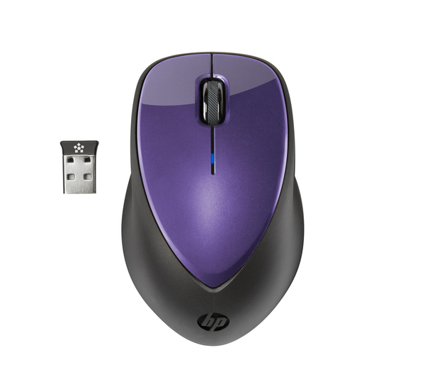 Фото: Мышь HP 2.4 GHz X4000 Wireless Laser Mobile Mouse, 1600 dpi, Bright Purple (H2F48AA)